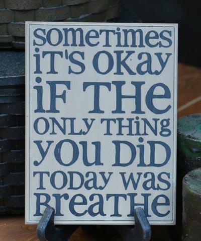 Breathe Wall Plaque - Tan