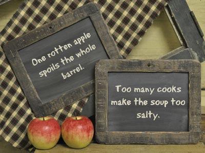 Too Many Cooks Small Blackboard