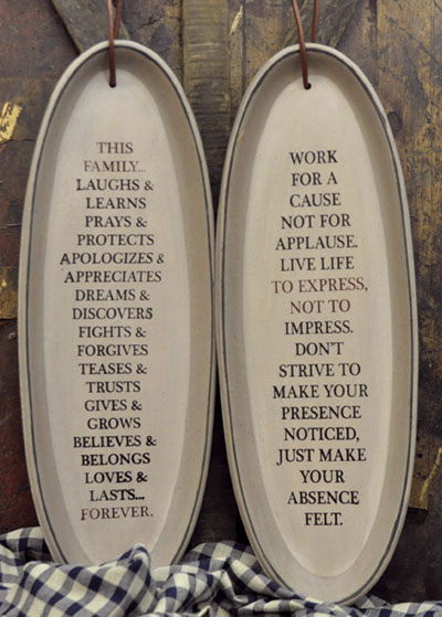 Family Forever Hanging Tray