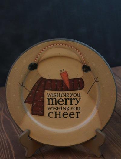 Wishing You Snowman Plate