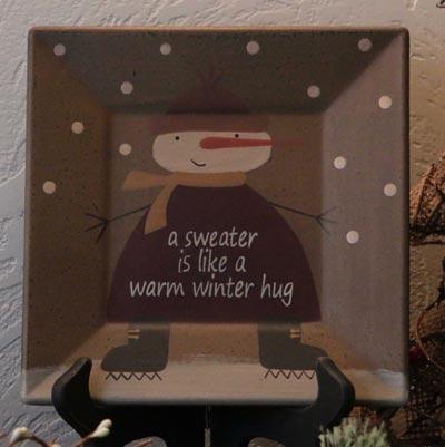 Winter Hug Square Plate