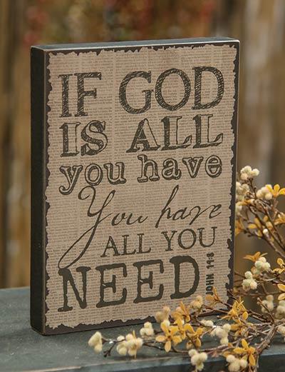God Vintage Standing Box Sign