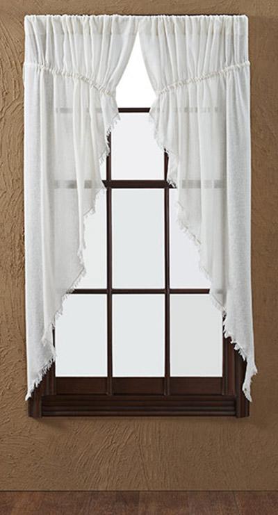 Antique White Tobacco Cloth Prairie Curtain