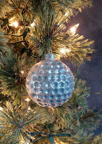 Glass Golf Ball Ornament