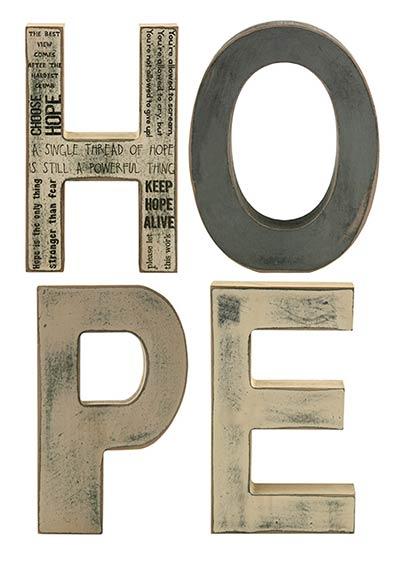 Hope Shelf Sitter Letters