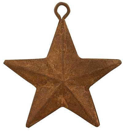 Rusty Tin Barn Star, 2 inch