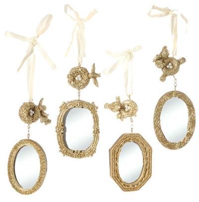 Gold Mirror Ornament
