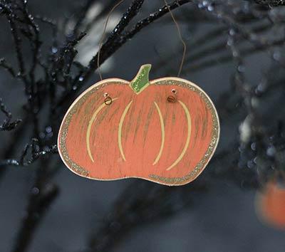 Fat Pumpkin Wood Ornament