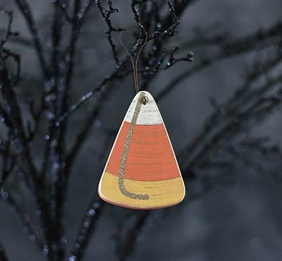 Candy Corn Wood Ornament