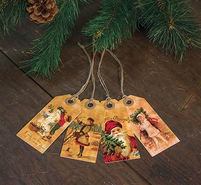 Old Fashioned Christmas Tags (Set of 4)