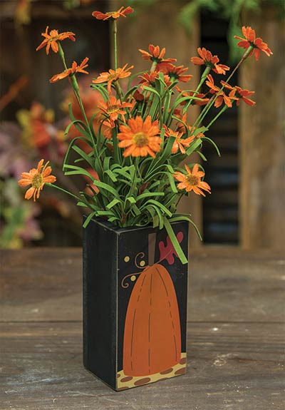 Pumpkin Wooden Vase