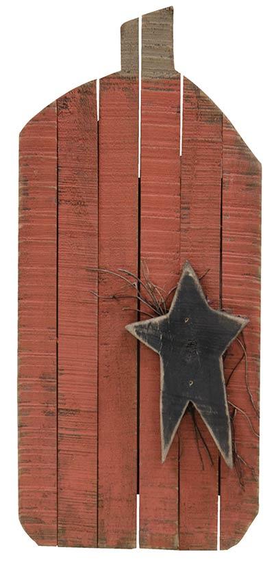 Lath Pumpkin with Star Wall Decor