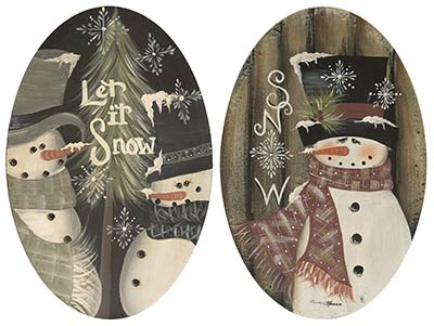 Let is Snow Snowmen Plates (Set of 2)