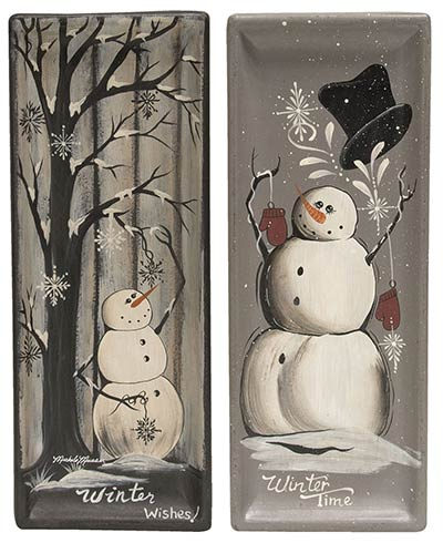 Winter Snowmen Trays (Set of 2)