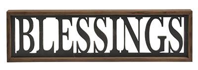 Blessings Framed Sign