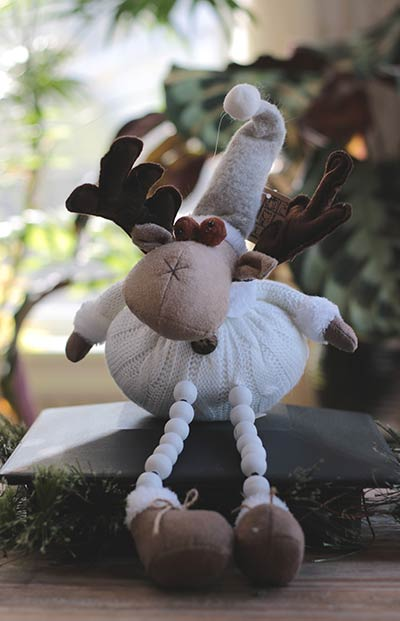 Mrs. Moose with Button Legs