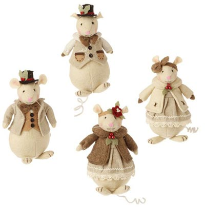 Victorian Mouse Christmas Ornament