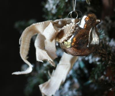 Antiqued Bird Ornament