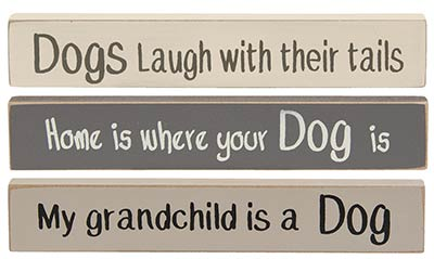 Dog Mini Shelf Sitter Signs (Set of 3)