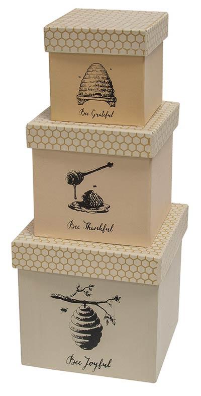 Bee Joyful Nesting Boxes (Set of 3)