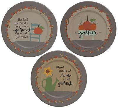 Gather Primitive Fall Plates (Set of 3)