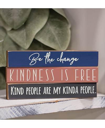 Kindness Mini Shelf Sitter Signs (Set of 3)