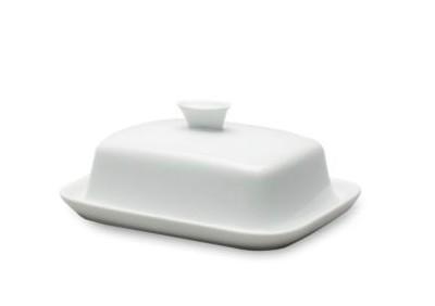 Whiteware Lidded Butter Keeper