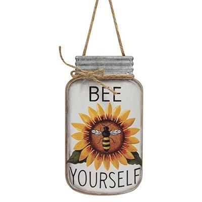 Bee Yourself Mason Jar Sign