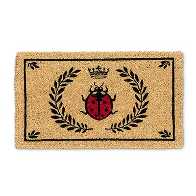 Ladybug in Crest Doormat