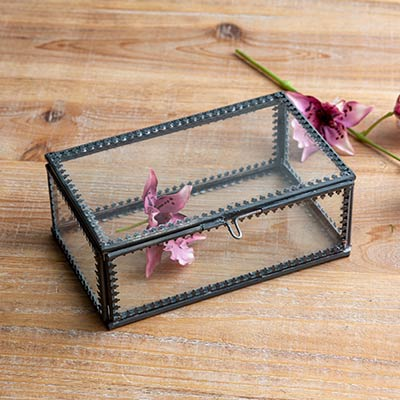 Glass Trinket Box - Small