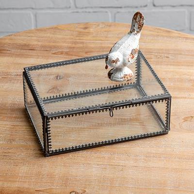 Glass Trinket Box - Large