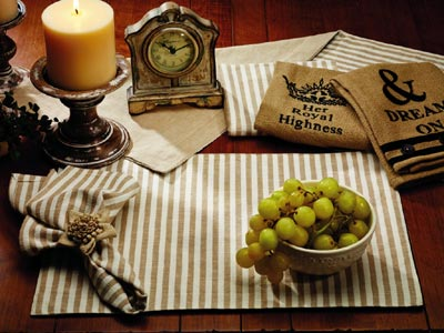 Au Natural Reversible Table Runner, 36 inch