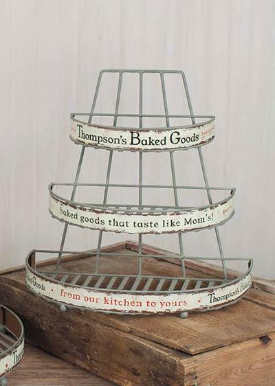 Vintage Bakery Display Rack - Small