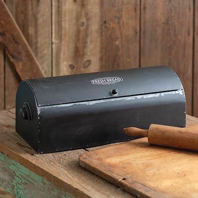 Black Vintage Bread Box