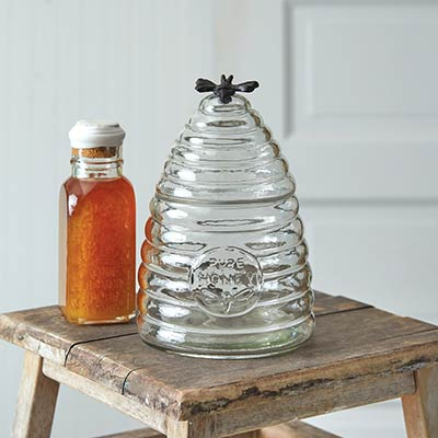 Honey Bee Hive Glass Canister - Medium