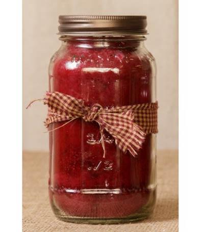 Cranberry Mason Jar Candle - 25 oz