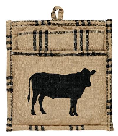 Cattle Pot Holder Set