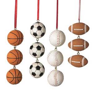 Sports Ball Swag Ornament