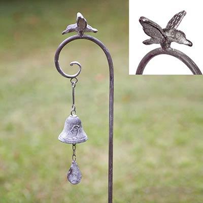 Bird and Bell Garden Stake