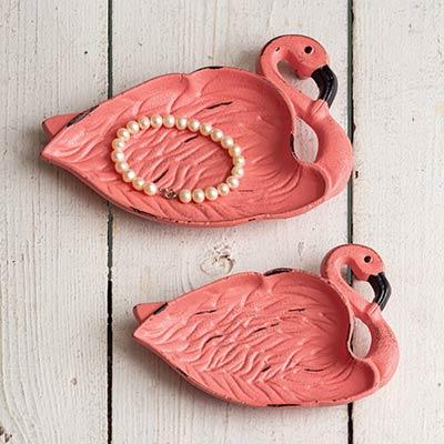 Flamingo Cast Iron Dishes (Set of 2)