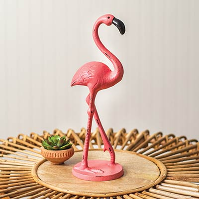 Flamingo Cast Iron Figurine