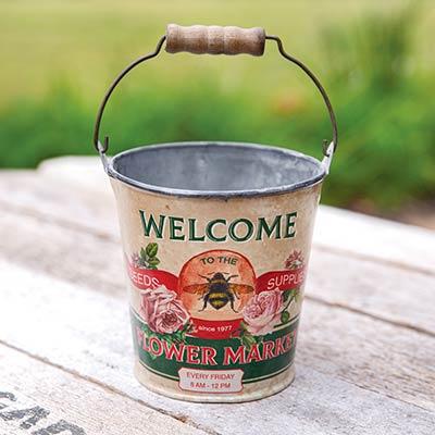 Flower Market Bucket with Handle