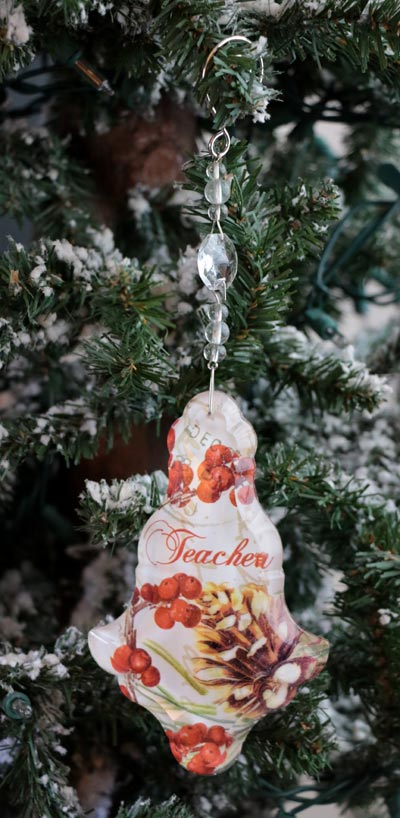 Teacher Collage Ornament