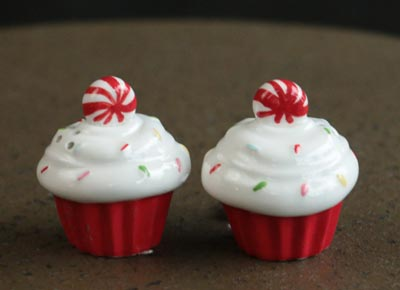 Holiday Soiree Cupcake Salt & Pepper Shaker Set - Red