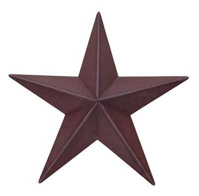 Burgundy Barn Star, 12 inch