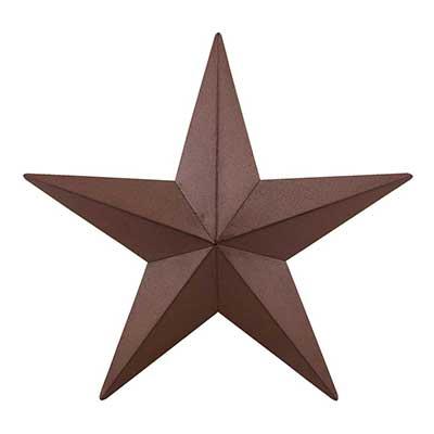 Burgundy Barn Star, 18 inch