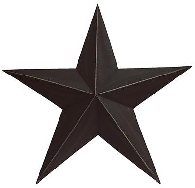 Black Barn Star, 18 inch