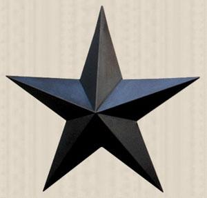 Black Barn Star, 24 inch
