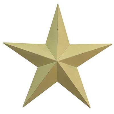 Ivory Barn Star, 12 inch