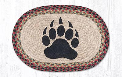 Bear Paw Braided Placemat - Oval